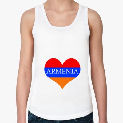 Женская майка  майка - Armenia серд