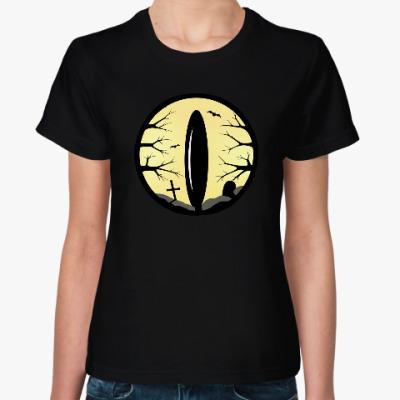 Женская футболка Лунный глаз