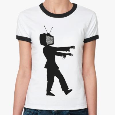 Женская футболка Ringer-T Зомби ТВ