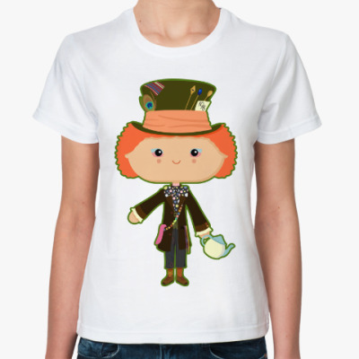Классическая футболка Безумный Шляпник