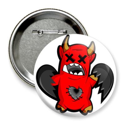 Значок 75мм Дьяволёнок