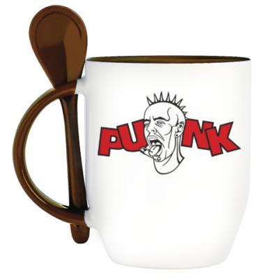 Кружка с ложкой Punk (Панк)