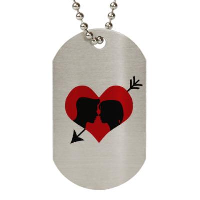Жетон dog-tag Сердце хочет любви