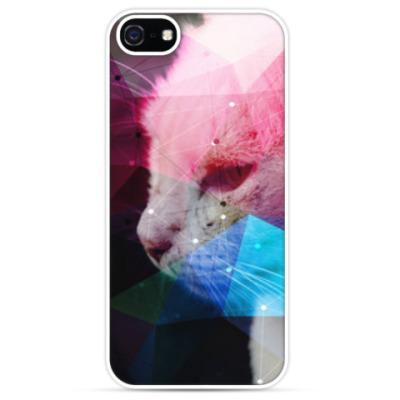 Чехол для iPhone Футуристический кот