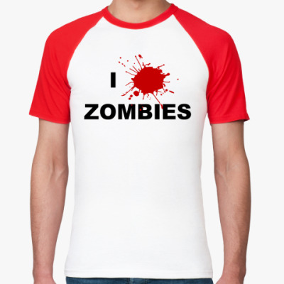 Футболка реглан Я люблю зомби