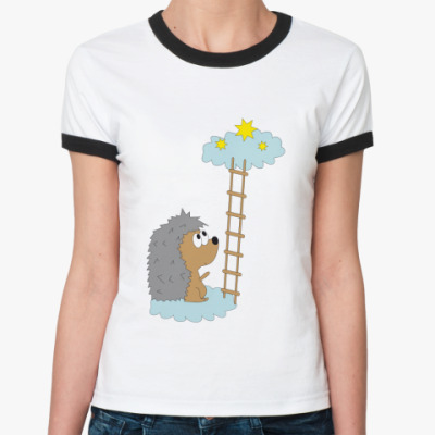 Женская футболка Ringer-T   Clouds