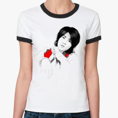 Женская футболка Ringer-T   Джин