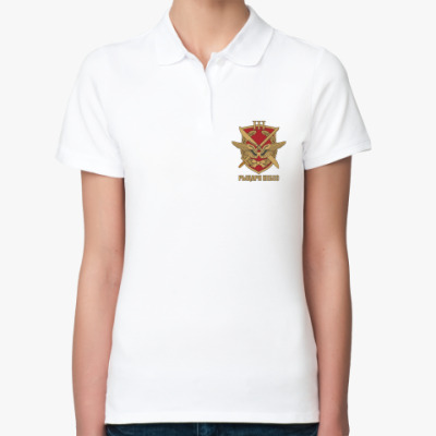 Женская рубашка поло  Рыцари небес 3 ж белая