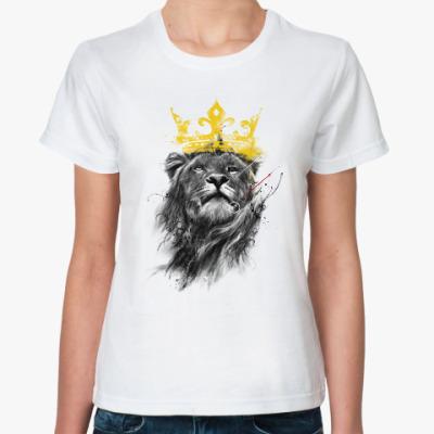 Классическая футболка Лев в короне