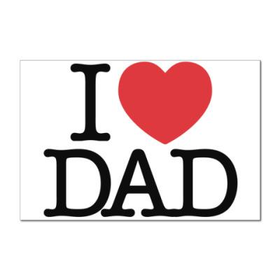 Наклейка (стикер)  Я люблю папу