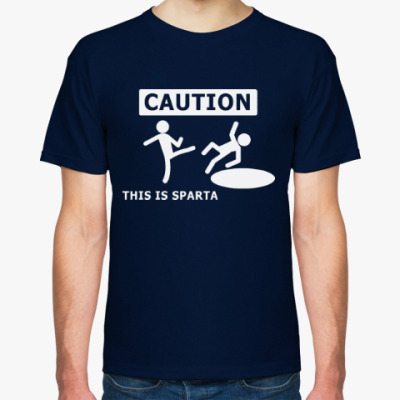 Футболка Caution: this is Sparta