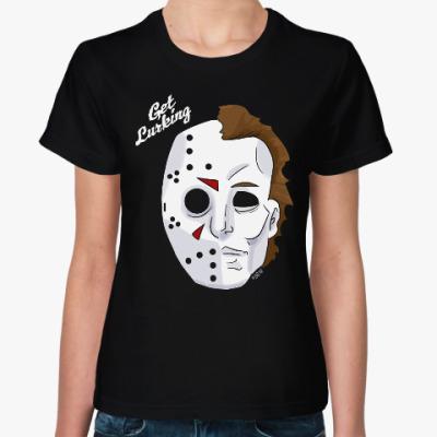 Женская футболка Джейсон и Кожаное Лицо