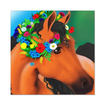 Наклейка (стикер) Лошадка