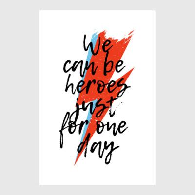 Постер Heroes. Дэвид Боуи