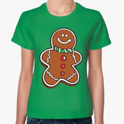 Женская футболка Новогоднее печенье Пряня