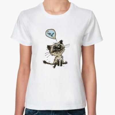 Классическая футболка Кошак Гав