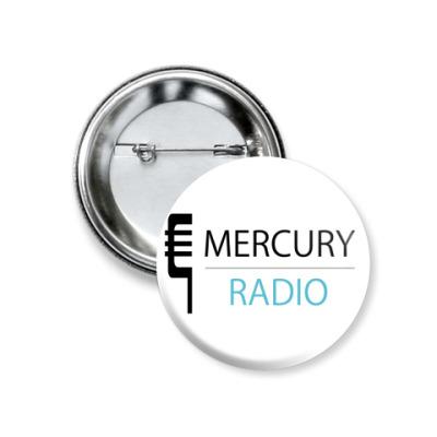 Значок 37мм  Mercury Radio 37 мм