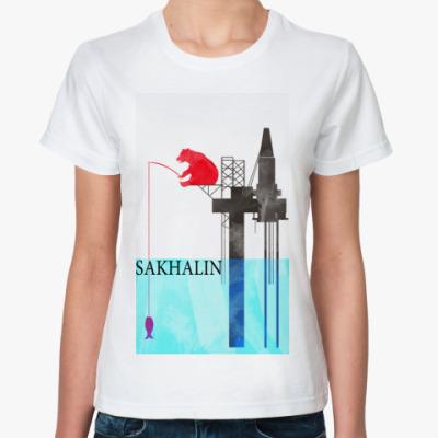 Классическая футболка Сахалин,Sakhalin
