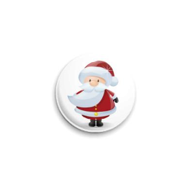 Значок 25мм Санта Клаус