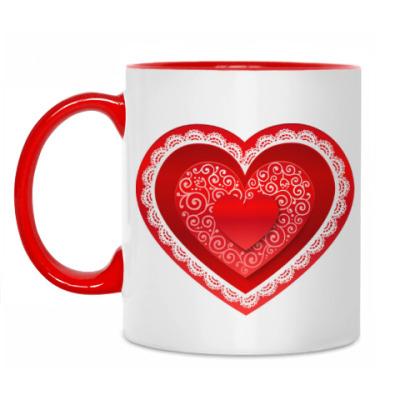 Кружка Кружевное сердце