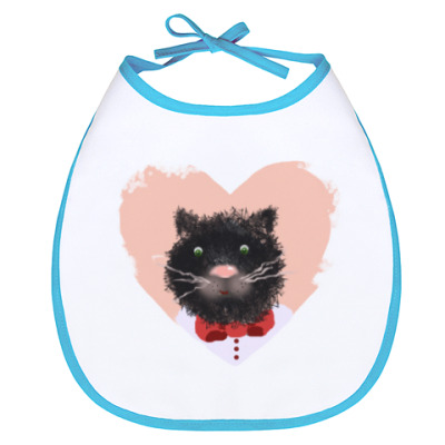 Слюнявчик Портрет кота