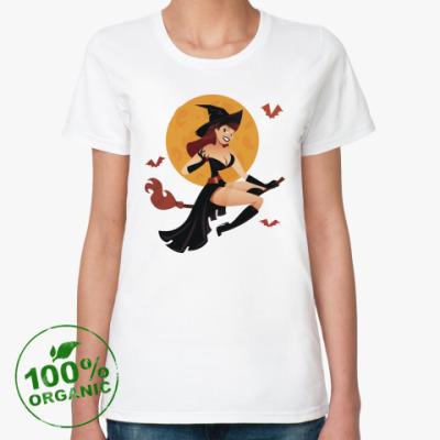 Женская футболка из органик-хлопка Witch