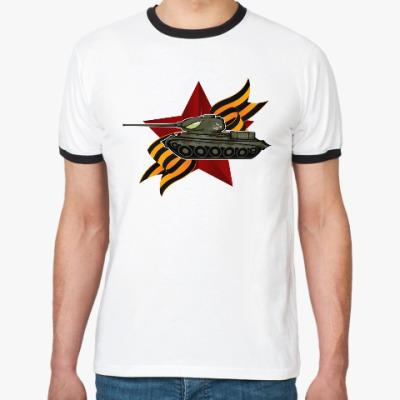 Футболка Ringer-T Танк Т-34-85 СССР