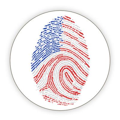 Костер (подставка под кружку) USA отпечаток