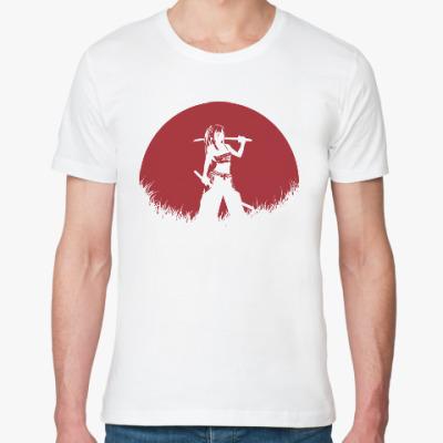 Футболка из органик-хлопка Аниме самурай
