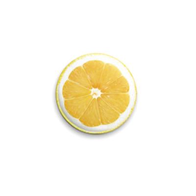 Значок 25мм Лимон