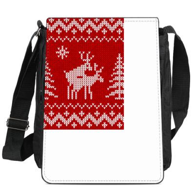 Сумка-планшет Вязаные олени