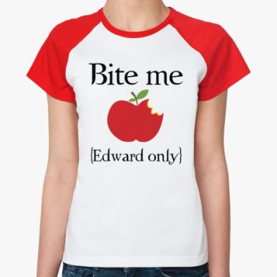 Женская футболка реглан Bite me