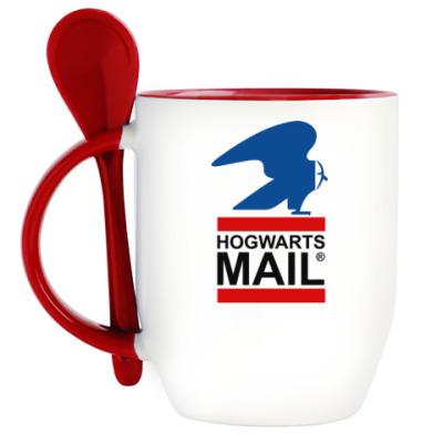 Кружка с ложкой Harry Potter - Почта Hogwarts
