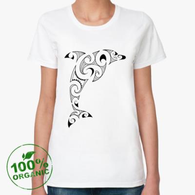 Женская футболка из органик-хлопка Дельфин