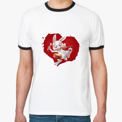 Футболка Ringer-T злобный кролик