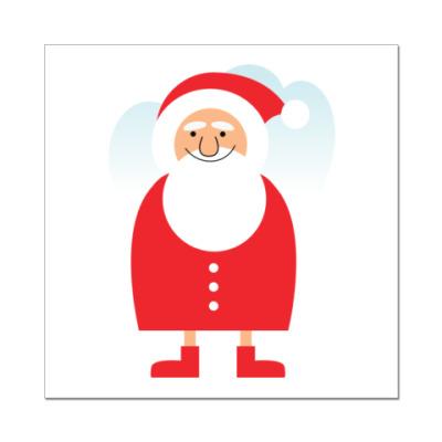 Наклейка (стикер) Дед Мороз