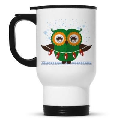 Кружка-термос Зимняя сова