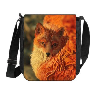 Сумка на плечо (мини-планшет) Огненный лис