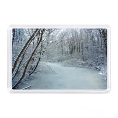 Магнит Зимний пейзаж