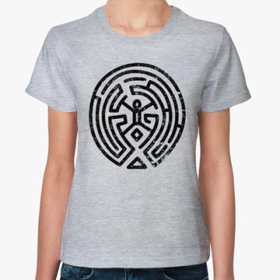 Женская футболка Мир Дикого Запада Лабиринт