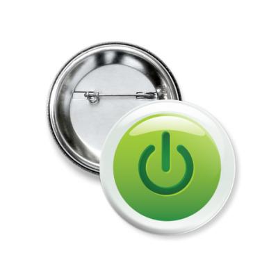 Значок 37мм  Кнопка включения