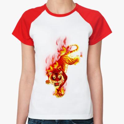 Женская футболка реглан Tiger