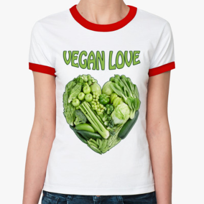Женская футболка Ringer-T Вегетарианцы рулят!