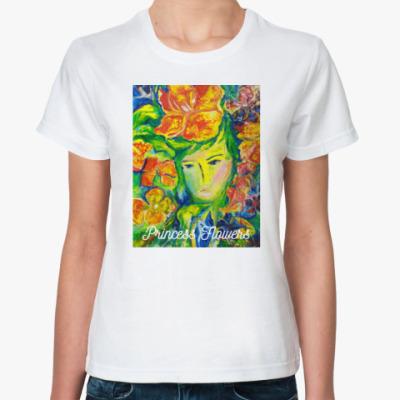 Классическая футболка Принцесса цветов