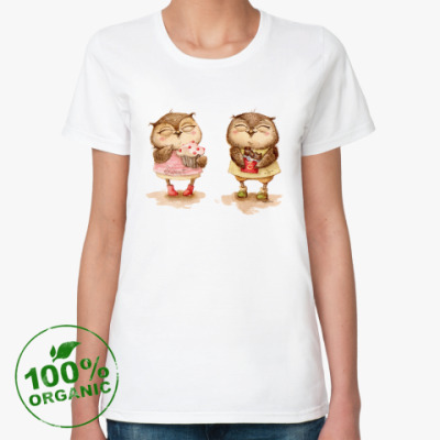 Женская футболка из органик-хлопка Сладкоежки