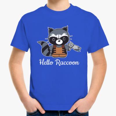 Детская футболка Привет Енот