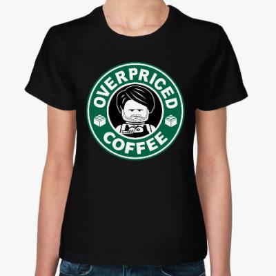 Женская футболка Лего Кофе