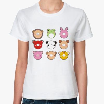 Классическая футболка 'Пушистый кавай'