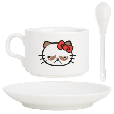 Кофейный набор Hello Grumpy Cat