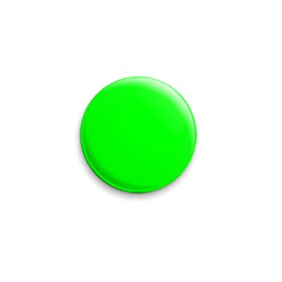 Значок 25мм «Green»